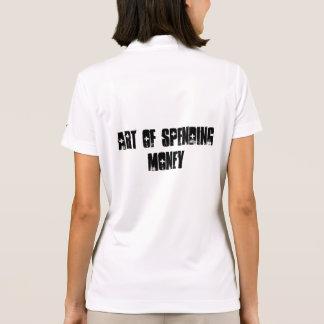 Arte del gastar dinero polo camiseta