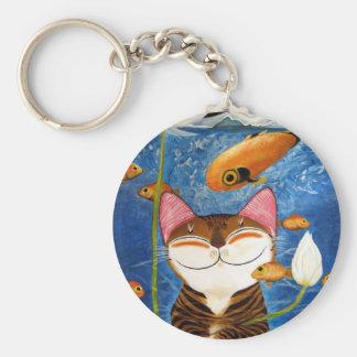 arte del gato - agua (5 elementos) llaveros personalizados