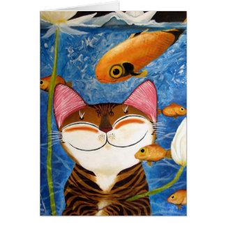 arte del gato - agua (5 elementos) felicitacion