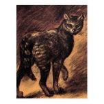 Arte del gato - arte del vintage - Steinlen Postal