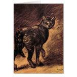 Arte del gato - arte del vintage - Steinlen Felicitación