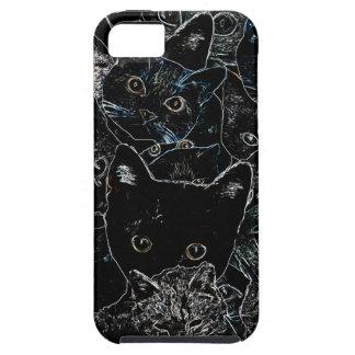 Arte del gato del gatito funda para iPhone SE/5/5s