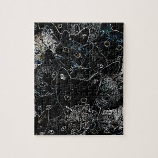 Arte del gato del gatito rompecabeza