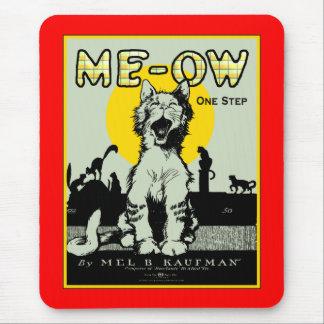 Arte del gato del maullido - vintage tapetes de ratones