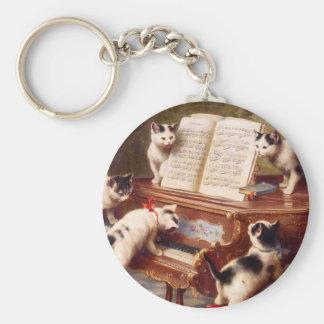 Arte del gato del vintage El decreto de los gati Llavero Personalizado