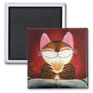 arte del gato - fuego (5 elementos) imán