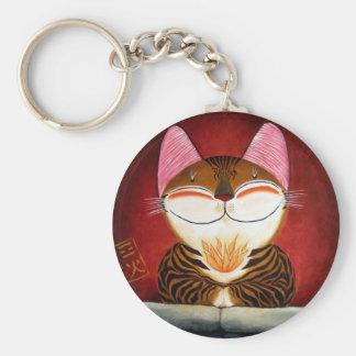 arte del gato - fuego (5 elementos) llavero personalizado
