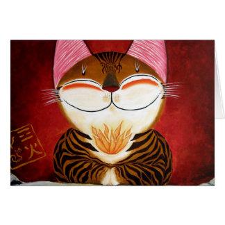 arte del gato - fuego (5 elementos) tarjetón