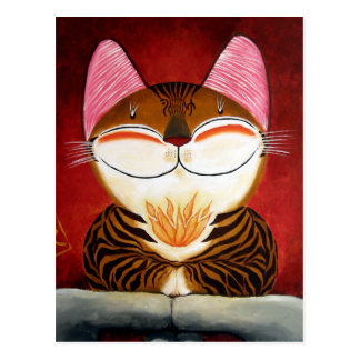 arte del gato - fuego (5 elementos) tarjetas postales