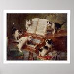 Arte del gato: Impresión del arte del vintage: El  Poster