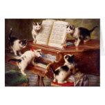 Arte del gato: Impresión del arte del vintage: El  Tarjeton