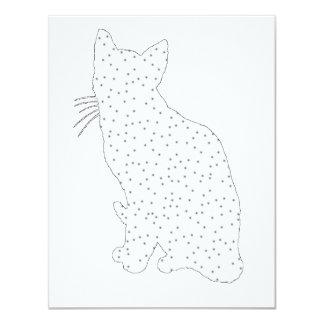"""Arte del gato invitación 4.25"""" x 5.5"""""""