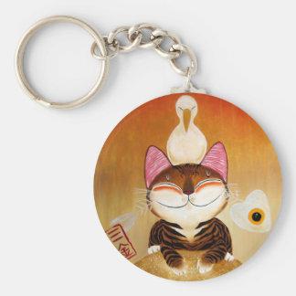 arte del gato - metal (5 elementos) llaveros