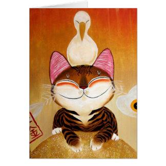 arte del gato - metal (5 elementos) tarjetas