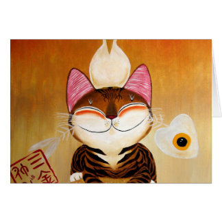 arte del gato - metal (5 elementos) felicitacion