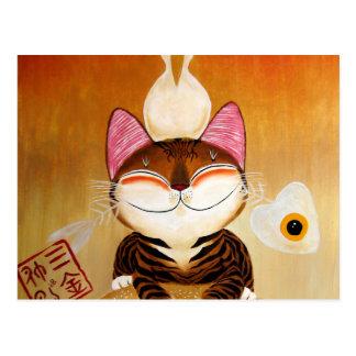 arte del gato - metal (5 elementos) tarjeta postal