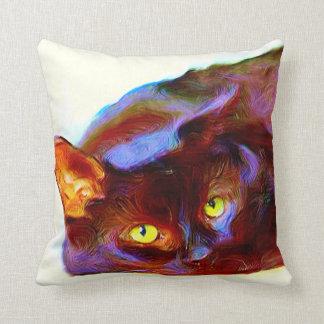 Arte del gato negro cojines