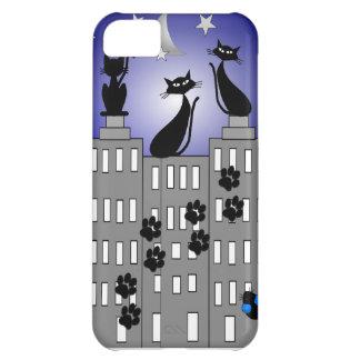 Arte del gato negro para los amantes del gato funda para iPhone 5C