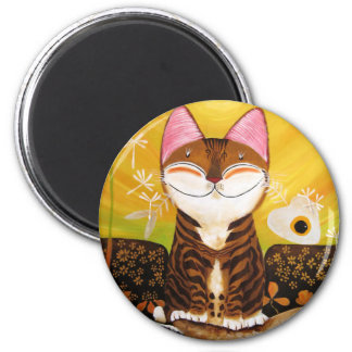 arte del gato - tierra (5 elementos) imán