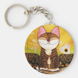 arte del gato - tierra (5 elementos) llavero personalizado