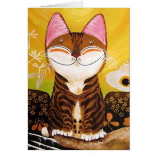 arte del gato - tierra (5 elementos) felicitacion