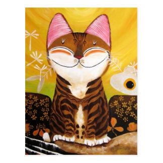arte del gato - tierra (5 elementos) tarjetas postales