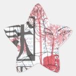 Arte del geisha calcomanías forma de estrellas