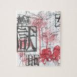 Arte del geisha rompecabezas con fotos