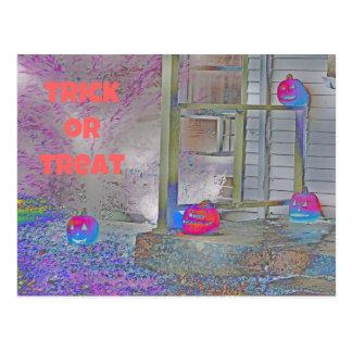 Arte del Gimp de las calabazas del truco o de la i Tarjeta Postal