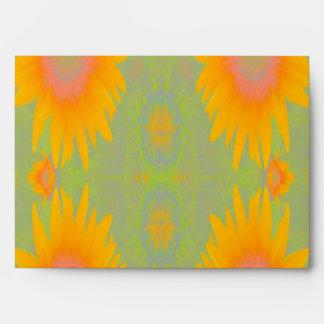 Arte del girasol en verde sobre
