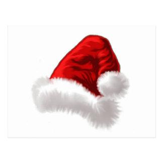 Arte del gorra de Santa del navidad Tarjetas Postales