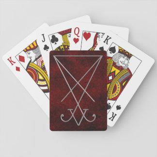 Arte del gótico de la alquimia de Lucifer Sigil Cartas De Póquer