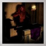 Arte del gótico de la fantasía de Lucifer de la Póster