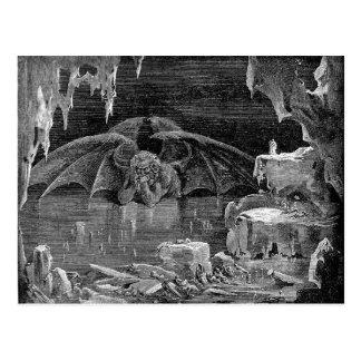 Arte del gótico del grabado del grabar en madera tarjeta postal