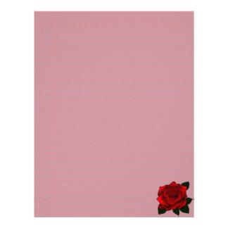 Arte del gótico del rosa rojo membrete