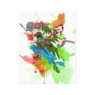 Arte del guerrero del samurai: Samurai fiel Impresion En Lona