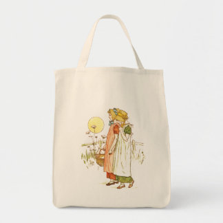 Arte del guión del vintage bolsa tela para la compra