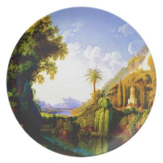 Arte del hackert de Jacob de la paz y de la bellez Plato De Comida