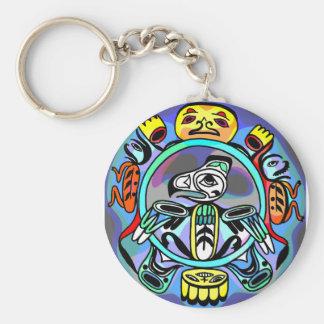 Arte del Haida Llaveros