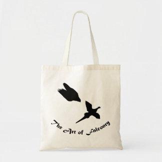 Arte del halcón de peregrino de la cetrería bolsas de mano