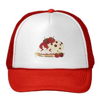 Arte del helado de fresa del verano gorras