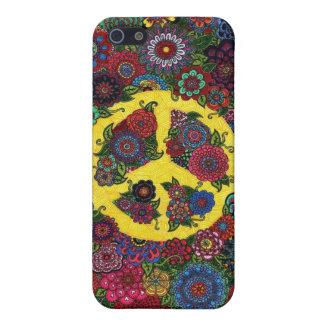 arte del hippy del amor del vintage del signo de l iPhone 5 cárcasa