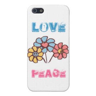 arte del hippy del amor del vintage del signo de l iPhone 5 carcasa