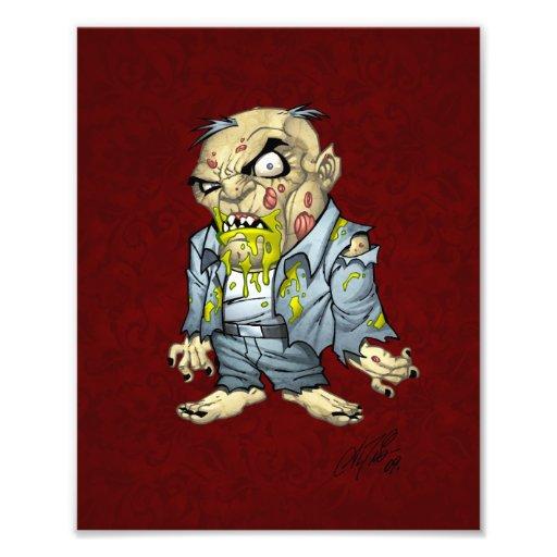 Arte del hombre de negocios del zombi del dibujo cojinete