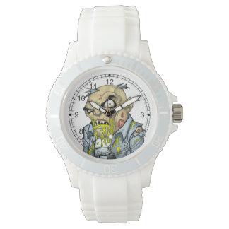 Arte del hombre de negocios del zombi del dibujo relojes de mano