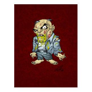 Arte del hombre de negocios del zombi del dibujo tarjetas postales