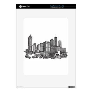 Arte del horizonte de Atlanta Georgia Calcomanías Para iPad