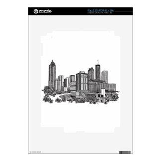 Arte del horizonte de Atlanta Georgia iPad 2 Skin