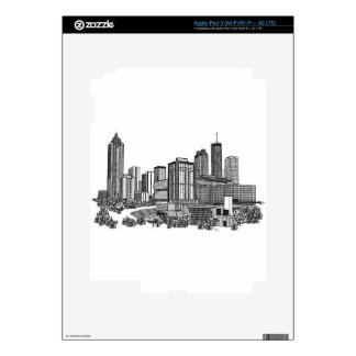 Arte del horizonte de Atlanta Georgia iPad 3 Skins