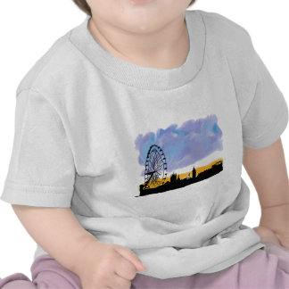 Arte del horizonte del ojo de Londres, regalos ust Camiseta